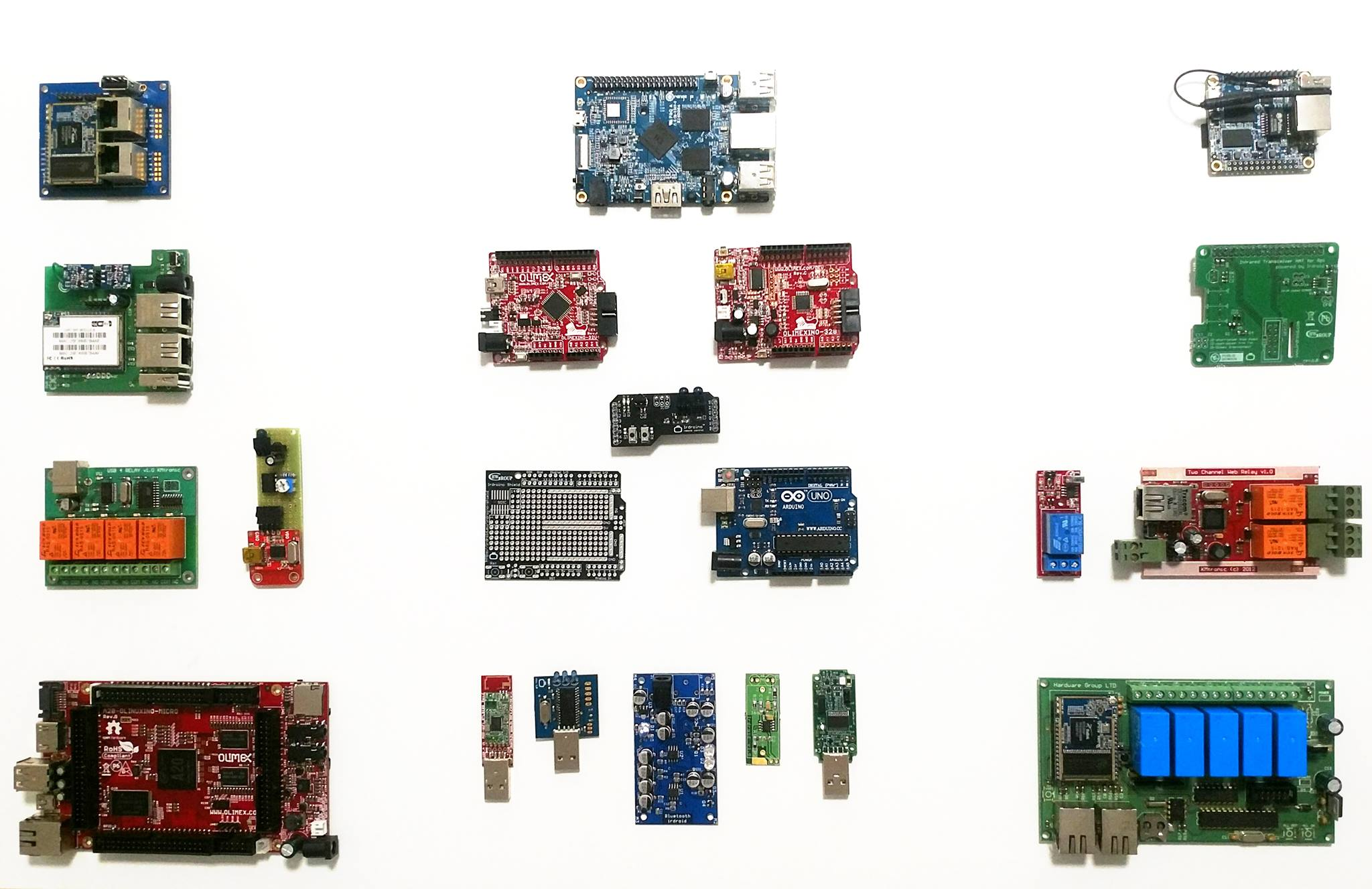 Hardware Group dev board collection